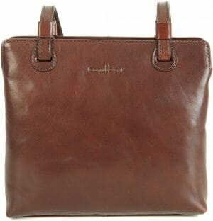 Gianni Conti Italian Fine Leather Brown Small Brown Shoulder Handbag Bag 903660