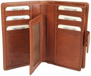Gianni Conti Superior Fine Italian Leather Medium 16 Card Purse Wallet 918046
