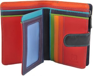 Mywalit Medium Leather 9 Card Tab Wallet With Zip Purse 390