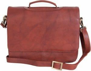 Visconti Medium Leather Laptop Briefcase Business Shoulder Bag 'ALFIE' 659