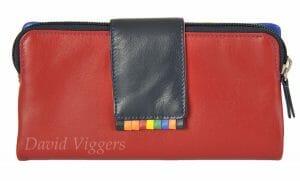 Graffiti RFID Soft Leather 11 Card Purse Wallet 7-6056