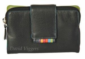 Graffiti RFID Soft Leather 8 Card Purse Wallet 7-6055