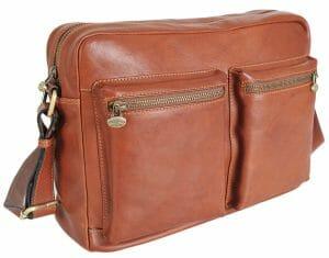 Gianni Conti Large Italian Tan Leather Business Work Bag 912304