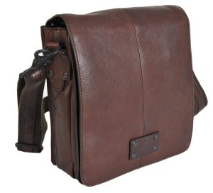 Gianni Conti Small Brown Fine Italian Leather Crossbody Messenger Bag 1132317