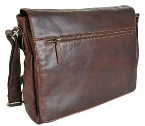 Gianni Conti Italian Leather Classic Large Brown Laptop Bag 1222348