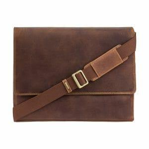 Visconti Men's Oil Leather 13″ Laptop Messenger Bag 18516