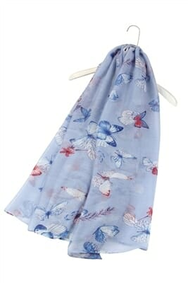 Butterfly In The Sky Print Scarf 2930