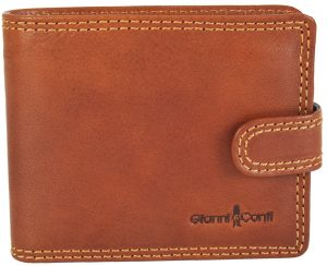Gianni Conti Fine Italian Bifold RFID Tan Leather 6 Card Wallet 917172