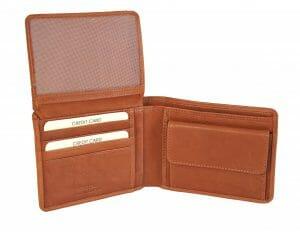 Gianni Conti Fine Italian Tan Soft Leather Bifold Wallet 1527100