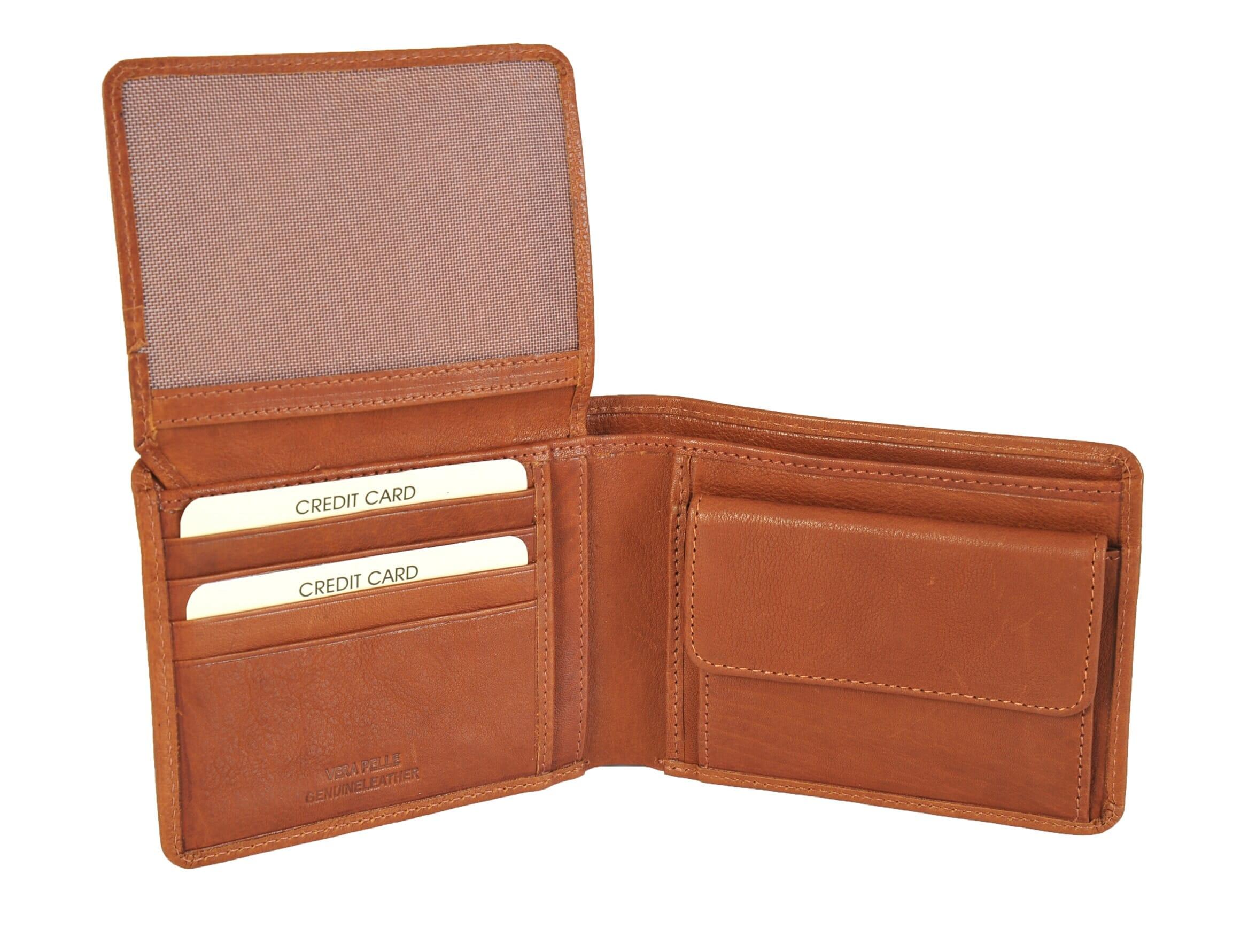 94e499c578f Gianni Conti Fine Italian Tan Soft Leather Bifold Wallet 1527100 ...