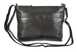 Rowallan Medium Black Leather Shoulder Bag 9878/01 RRP 49.99 OUR PRICE 39.99
