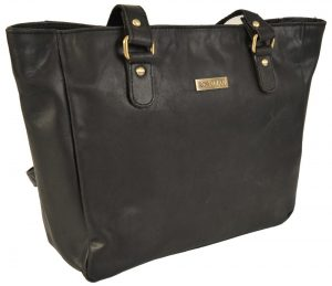 Rowallan Black Oil Leather Large Shoulder Bag 319630