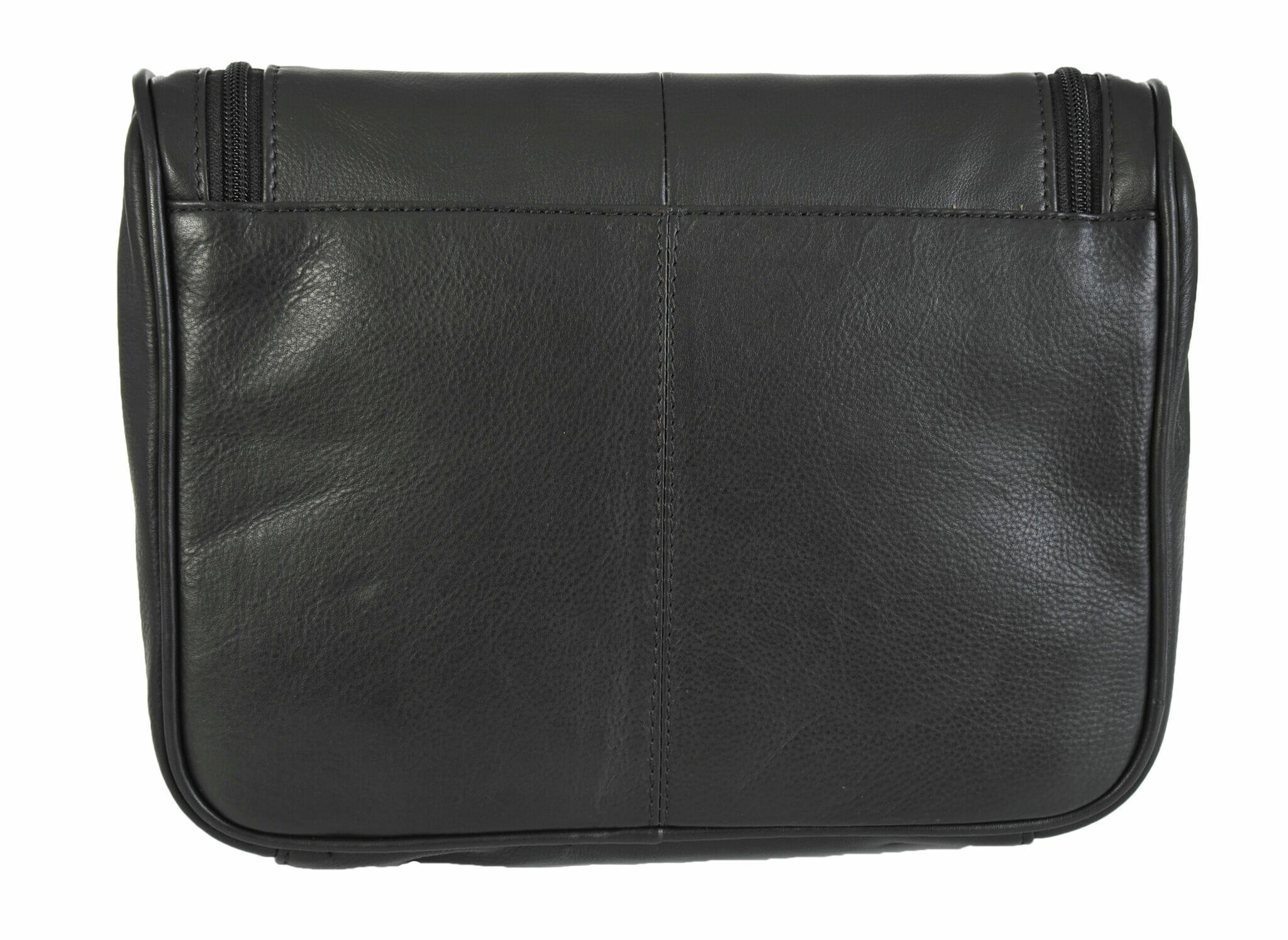 5e8bdcb67dff Rowallan Mens Black Soft Leather Hanging Washbag 9789 - David ...