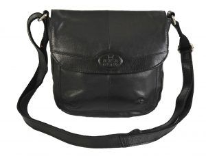 Rowallan Soft Black Small Leather Flap Shoulder Bag 9881 RRP £49.99 OUR PRICE £39.99