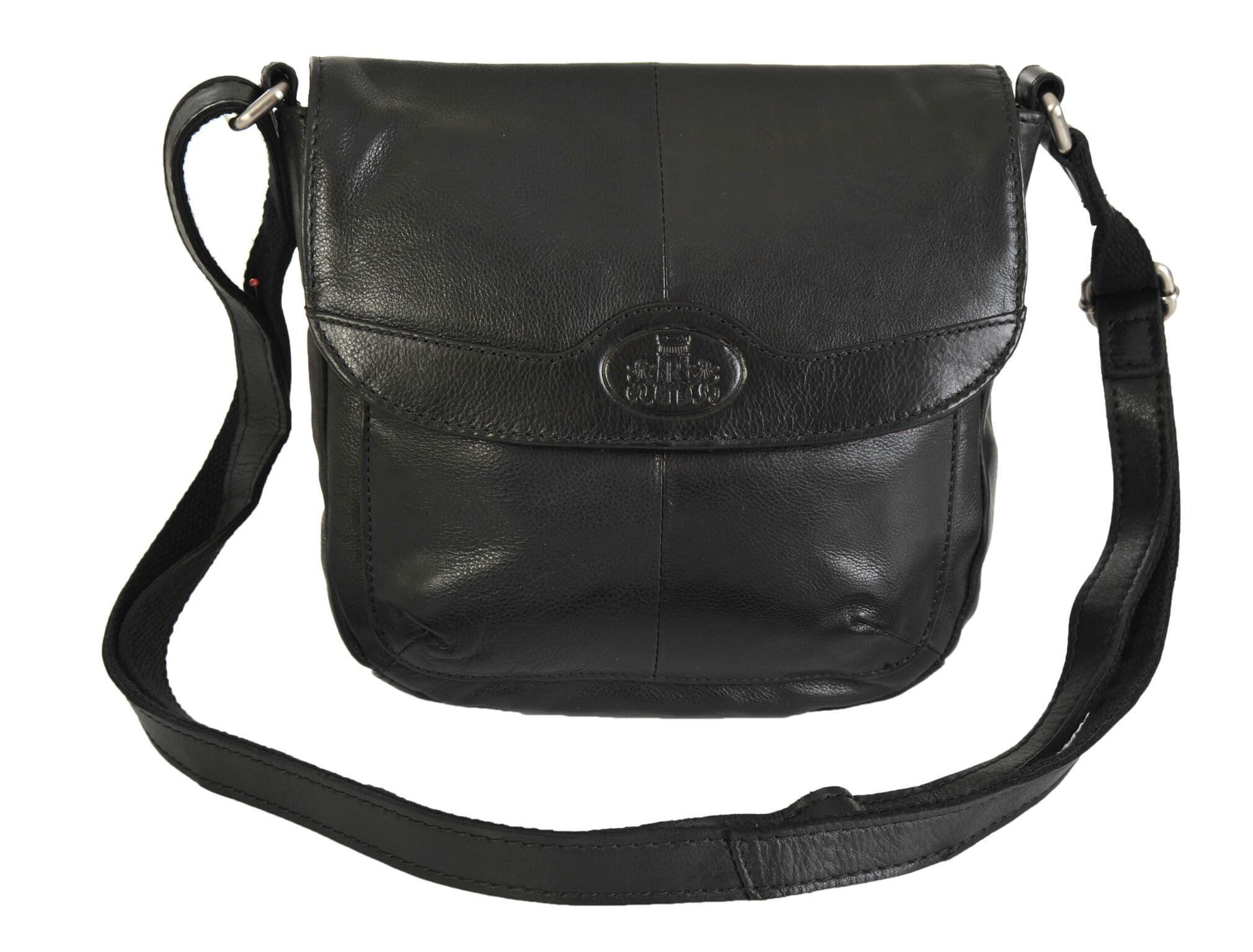 e4ac5a424e Rowallan Soft Black Small Leather Flap Shoulder Bag 9881 RRP £49.99 OUR  PRICE £39.99