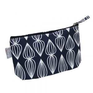 Peony Topspin Navy 100% Cotton Make Up Bag – B-51