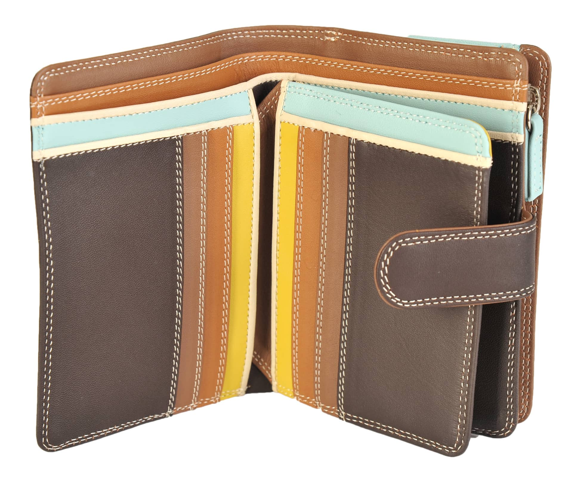 aacf0bfe5b10 Mywalit Medium Leather 9 Card Tab Wallet With Zip Purse 390 - David ...