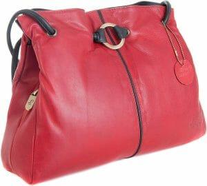 Gigi Othello Two/Tone Soft Leather 3 Section Shoulder Handbag  4323