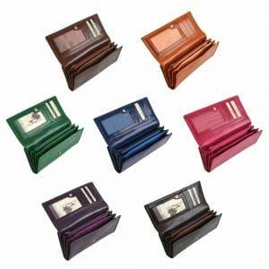 Italian Leather Womens Clutch Purse V901
