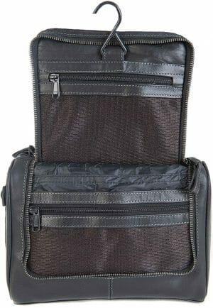 Primehide Leather Hang Up Mens Travel Wash Bag 946
