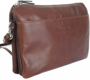 Gianni Conti Fine Italian Leather Small Brown Organiser  Handbag 584523