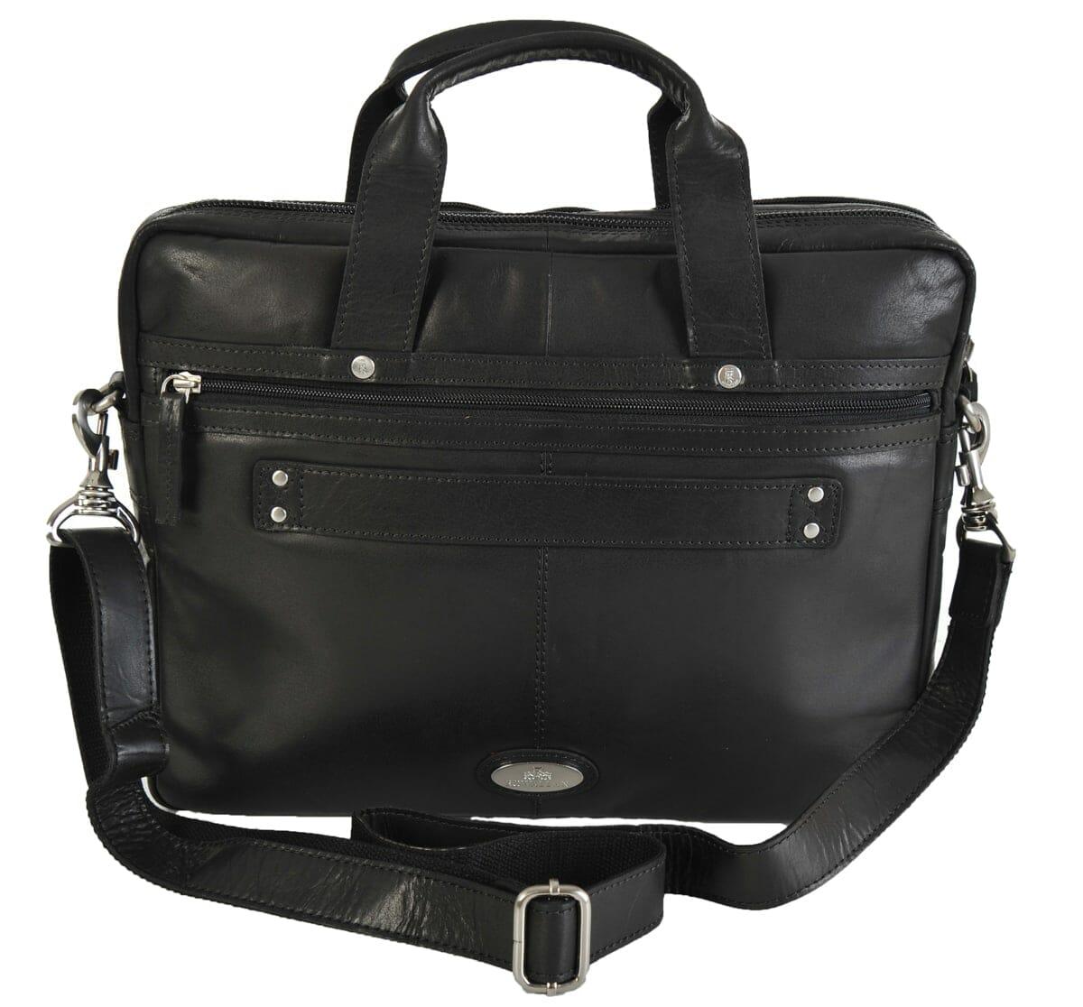cd0633862e9e Rowallan Black Leather Two Section Work Bag 32-1283 - David Viggers ...