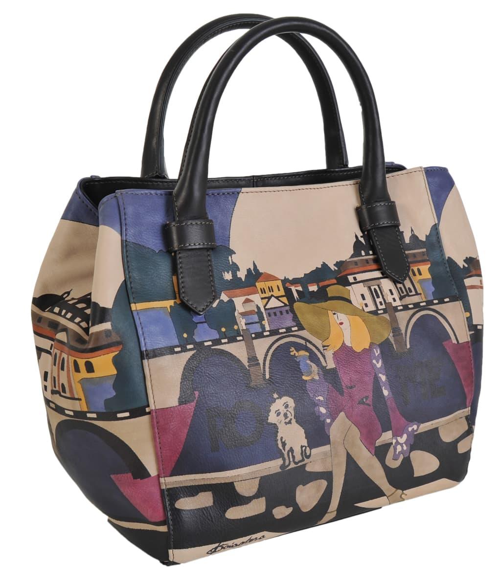 338c538d6349 Made In Italy baiadera Hand Painted Handbag Sophia S Roma 01 nero ...
