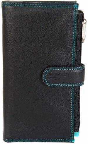 Visconti Soft Leather in Black/Aqua Purse Wallet CD23