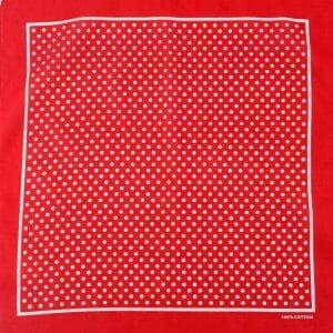DV Fashions 100% Cotton Large Red/White Polka Dot Scarf Bandana DV29