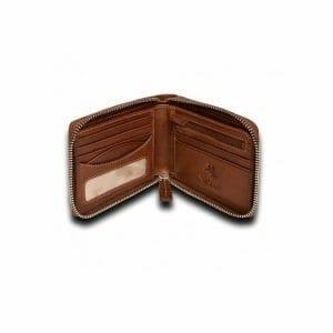 Visconti Darwin Zip Around Mens Brown Leather Wallet DR-31