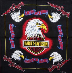 DV Fashions Large 100% Cotton Eagle and Harley Davidson Bandana DV 25
