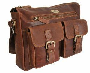 Rowallan Large Leather Oil Tan Zip Top Work Bag 319643