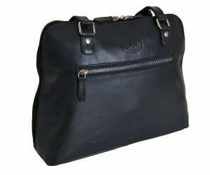Rowallan Navy Medium Leather Zipped Shoulder Bag 9981 £49.99