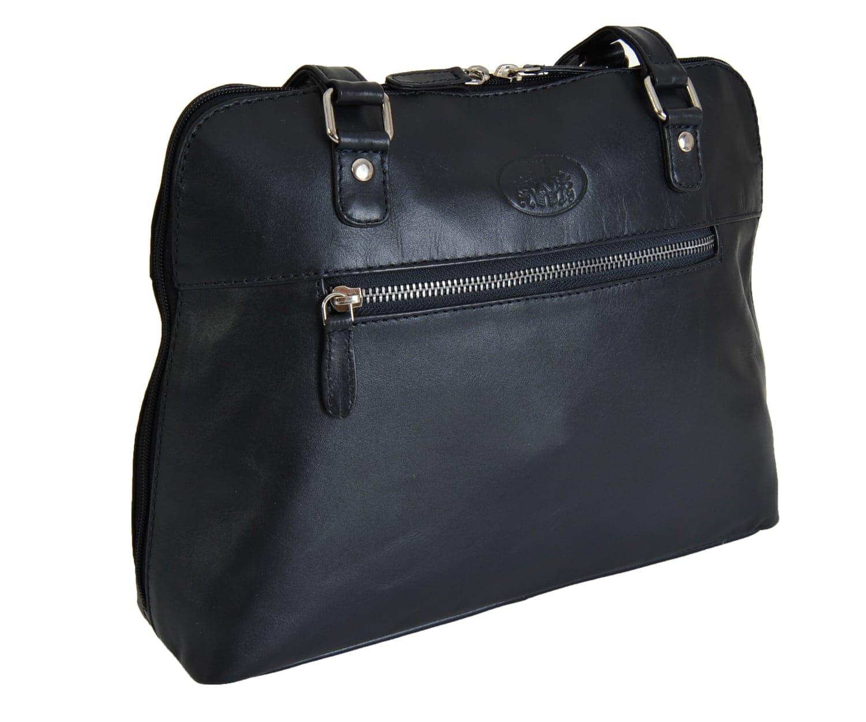 b2df3b68dd Rowallan Navy Medium Leather Zipped Shoulder Bag 9981 £49.99 - David ...