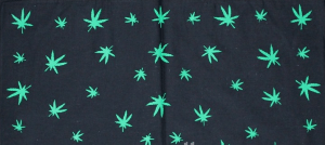 DV Fashions 100% Cotton Cannabis Leaves Bandana Head Scarf DV144