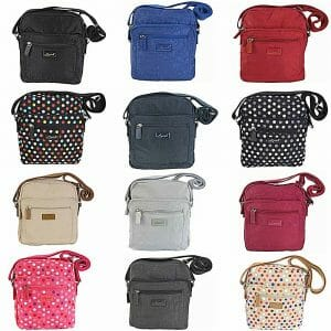 Spirit Medium Nylon Lightweight Crossbody Zip Top Bag In Various Colours – 5766