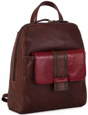 Gianni Conti Medium Leather Three Tone Zip around Rucksack 973876