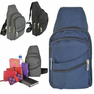DV Fashions Small Canvas Sling Bag Shoulder Rucksack DV 172