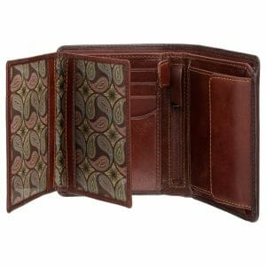 Visconti Atelier Mens Leather Burnished Tan Bifold Wallet AT62
